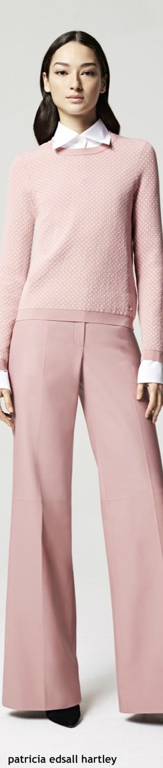 Escada Resort 2016 coral  women fashion outfit clothing style apparel @roressclothes closet ideas