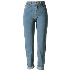 Women's Vintage High Waist Boyfriend Style Denim cowboy Pants Jeans... ($40) ❤ liked on Polyvore featuring jeans, pants, cowboy jeans, blue high waisted jeans, high-waisted boyfriend jeans, blue jeans and high rise jeans