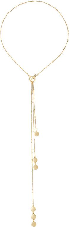 Lydell NYC Delicate Golden Lariat Y-Drop Necklace