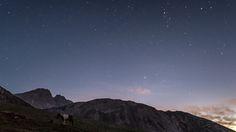 L'istante prima dell'alba in cui ancora si possono ammirare le stelle