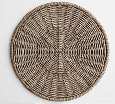 Rich in natural warmth and texture, the Willow Collection has a casual, welcoming feel. The charger is an easy layer for a table setting, whether with colorful or plain white dinnerware. Pottery Barn, Rattan, Wicker, Wood Chargers, White Dinnerware, Dinnerware Sets, Custom Rugs, Easter Table, Centerpiece Decorations