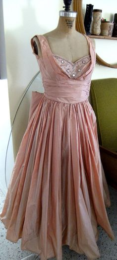 Vintage 1940s Henri Bendel Taffeta Party Dress