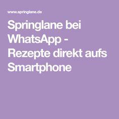 Springlane bei WhatsApp - Rezepte direkt aufs Smartphone