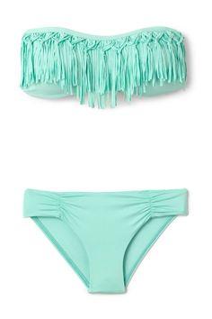 I've gotten the white one, but definitely want the teal fringe bikini!