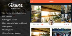 nice theme for personal blog, journalist, writer, traveller. Vienna - Content Focused Personal Blog Theme