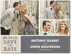 Save The Date!    http://www.weddingpaperdivas.com/product/8827/save_the_date_postcards_utterly_stylish.html