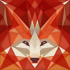 the glaring fox Art Print