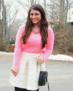 La Petite Fashionista: pink sweater & sequins