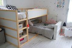 quarto para duas irmãs - esse era o tipo de quarto que eu queria ter com minhas irmãs.