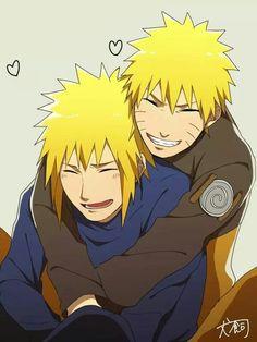Minato and Naruto Uzumaki Family, Naruto Family, Naruto Boys, Naruto Cute, Naruto Uzumaki Art, Naruto And Hinata, Anime Naruto, Naruto's Dad, Deidara Akatsuki
