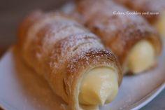 Cakes, Cookies and more: Rezept für Schillerlocken - Cremerollen - Vanillecornet