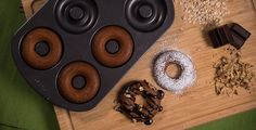 Avedonuts: Donas de Avena Healthy Choices, Healthy Life, Healthy Food, Diet Recipes, Vegan Recipes, Recipies, Baked Doughnuts, Americas Test Kitchen, Sugar Free Recipes