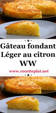 Gâteau fondant Léger au citron WW - Découvrez la recette Weight Watchers du Gâteau fondant Léger au citron WW, simple et facile à r - Plats Weight Watchers, Weight Watchers Meals, Vegan Crockpot Recipes, Diabetic Recipes, Ww Desserts, Dessert Recipes, Lemon Desserts, Easy Cake Recipes, Healthy Dinner Recipes