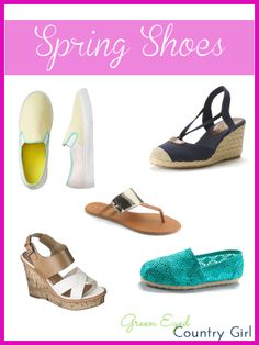 Spring Shoes I love. #FashionFriday #Shoes #Spring #Wedges #Sandals