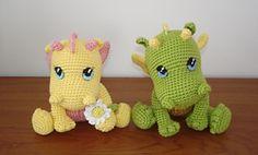Amigurumi: Dragons on Pinterest Dragon Pattern, Crochet ...