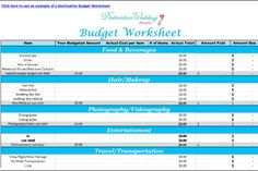 Destination Wedding Planning Spreadsheets Free Budget Templates Seating Plan And