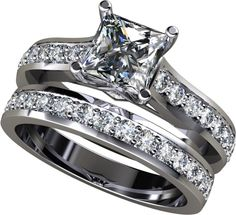 princess cut diamond engagement rings and plain silver wedding