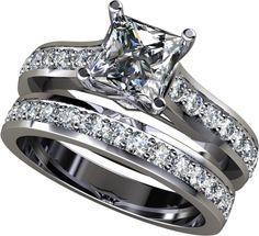 295Ct Princess Cut Wedding Set Available In 14K 18K And Platinum Agape Diamonds