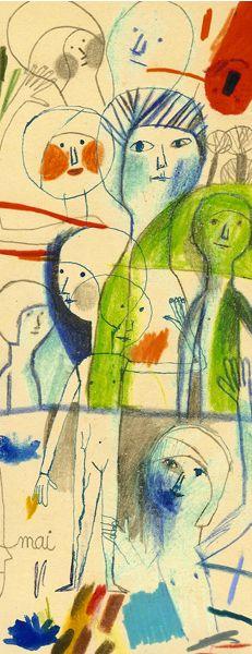 Le figure dei libri » Blog Archive » Intervista a Beatrice Alemagna - Uno schizzo preparatorio per Gisèle de verre