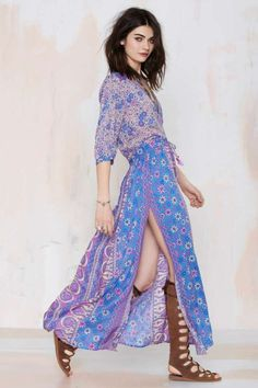 Boho Maxi Dress | Dresscab