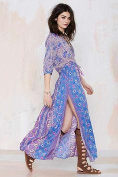 Boho Maxi Dress | Dresscab