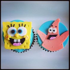 Spongebob and Patrick Cupcake Toppers