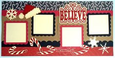 2 Premade Scrapbook Pages 12x12 Layout Paper by bljgravesstudio, $29.99