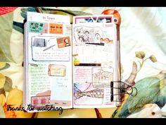How I journal my Midori Traveler's Notebook | Process video - YouTube