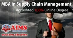 Masters in Supply Chain Management Degree | Accredited Online MBA is a globally recognized 38 credit hours supply chain management degree program, that develop core supply chain & logistics skills mix with business management skills. Supply chain management mba is internationally accredited degree delivered 100% online. The masters in supply chain management mba expand leadership and advancement opportunities through professional education  #mbasupplychain #supplychainmasters…