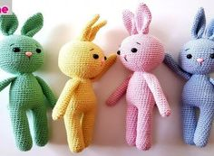 Amigurumi Rabbit Making – Strickspielzeug – Darling Mother Crochet Motifs, Crochet Yarn, Knitting Yarn, Crochet Toys, Crochet Patterns, Amigurumi Toys, Amigurumi Patterns, Design Youtube, Crochet Rabbit