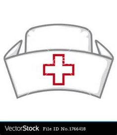 Nursing Hat Template Nurse cap vector
