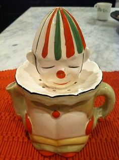 Antique Vintage Rare 1920's Japan Clown Fruit Juicer Reamer  And another...