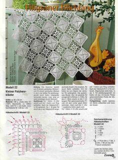 "Photo from album ""FiletHakeln Sonderheft - FI 162 Filethakeln"" on Yandex. Crochet Table Runner, Crochet Tablecloth, Crochet Doilies, Crochet Home, Crochet Granny, Free Crochet, Crochet Motif Patterns, Crochet Stitches, Crochet Bedspread"