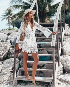 072b8727b9b4 Shop the Look from outfitstrends on ShopStyle - Jas is embroidered lace is  a perfect getaway dress beach dress
