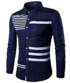 "Men's ""The Bars"" Long Sleeve Slim Fit Casual/Dress Shirt - 3 Colors"