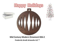 Mid Century Modern Ornament 8362 by FredArndtArtworks on Etsy, $14.95