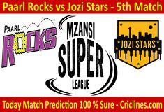 Mzansi Super League We provide 100 % sure today cricket match prediction tips Live Cricket, Cricket Match, Who Will Win, Rocks, Stars, Free, Sterne, Stone, Batu