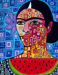 MEXICAN FOLK ART  Frida Art Frida Kahlo by HeatherGallerArt, $24.00