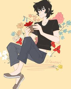 Keith and red from the fic 'of florists and tennis shoes'  I tried to use…