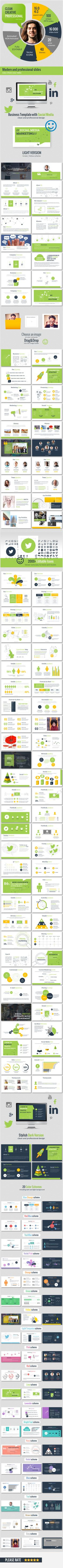 28 best star report powerpoint template the highest quality social media deck presentation template toneelgroepblik Image collections