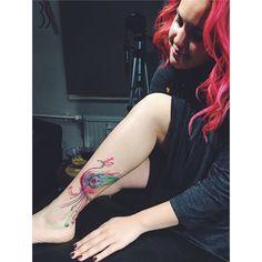 "@denizzgok ""Tavuskuşu beni ifade ediyor bence!"" #kırmızı •designedbyStudio3S    #studio3s #peacock #peacocktattoo #watercolortattoo #littletattoo #vsco #vscocam #vscotattoo #ink #tattooart #tattoolove #tattoodesign #tattoostudio #designstudio #fasulyetasarımatölyesi #color #linetattoo #lineart #blacktattoo #tattoodesign #tattoolife #dövme #symboltattoo #design #art #dottattoo #dotwork #dotart"