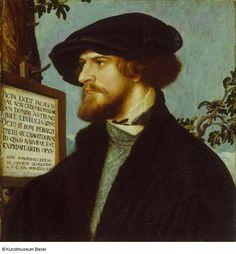 Hans Holbein der Jüngere, Bildnis des Bonifacius Amerbach (1519, Kunstmuseum Basel, Kupferstichkabinett)