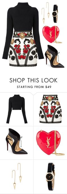 """Untitled #121"" by tazkiasaras ❤ liked on Polyvore featuring Balmain, Dolce&Gabbana, Christian Louboutin, Yves Saint Laurent, Rebecca Minkoff and Marc by Marc Jacobs Balmain Shoes, Balmain Dress, Fashion 2016, New York Fashion, Fashion News, Love Fashion, Runway Fashion, Winter Fashion, Fashion Trends"