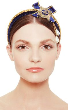 Blue Badge Of Honor Headpiece by Masterpeace for Preorder on Moda Operandi
