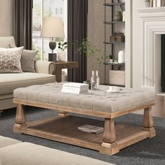 Table Storage, Coffee Table With Storage, Storage Spaces, Simple Coffee Table, Coffee Tables, Floor Shelf, Beige Living Rooms, Upholstered Bench, Brown And Grey