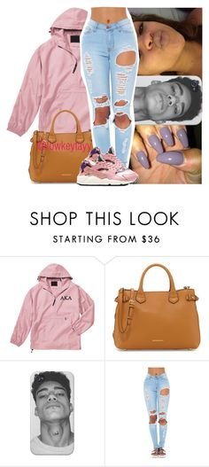 """Our Boys' team plays Elko tomma."" by lowkeytayy ❤ liked on Polyvore featuring Burberry and NIKE"