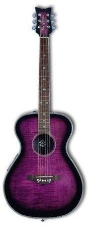 purple guitar - I actually have a blue one very similar :)