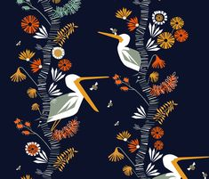 The birch   the bees fabric by mirjamauno on Spoonflower - custom fabric