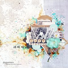 Karolina Czajkowska - our September Guest designer - have mastery of mixed-media. Look at this stunning layout of hers. There are not only ...