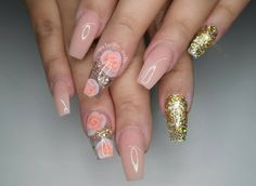 Birthday nails for @bellanena_17 nice and simple like she wanted!😍✌ #nails #nailsinorlando #nailsinkissimmee #nailpro #nailart #encapsulated #dopenails #dopenailtech #pronails #notpolish #nailporn #nailprodigy #exoticnails #nailjunkies #nailartaddict #glitternails #cutenails #greatnails #nailsofinstagram #handpaintednailart #gelnails